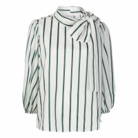 Red Valentino Women's 'Pussy Bow Striped' Blouse