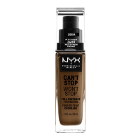 NYX 'Can't Stop Won't Stop Full Coverage' Foundation - Sienna 30 ml