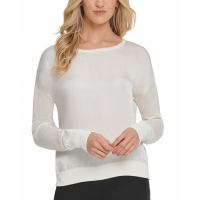 DKNY Women's 'Satin-Front' Sweater