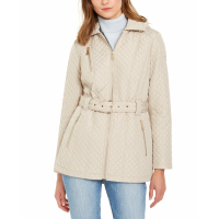 Michael Kors Women's 'Quilted Hooded Belted' Jacket