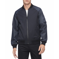 Calvin Klein Men's 'Mix-Media' Bomber Jacket