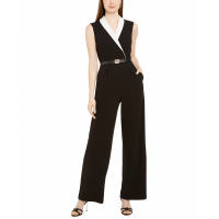 Calvin Klein Women's 'Colorblocked Notch-Collar' Jumpsuit