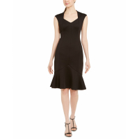 Calvin Klein Women's 'Cap-Sleeve Flounce-Bottom' Dress