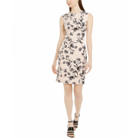 Calvin Klein Women's 'Floral-Print Pleated Sheath' Dress