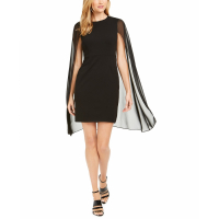 Calvin Klein Women's 'Chiffon Capelet Sheath' Dress
