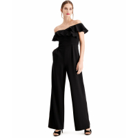 Calvin Klein Women's 'Ruffled Off-The-Shoulder' Jumpsuit