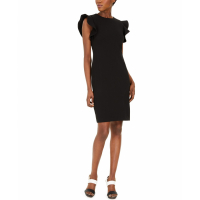 Calvin Klein Women's 'Ruffle-Sleeve Sheath' Dress