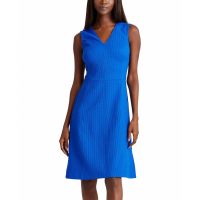 LAUREN Ralph Lauren Women's 'V-Neck' Sleeveless Dress
