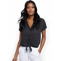 New York & Company Women's 'Tie Front' Short sleeve Blouse
