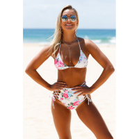 Angel Sin Women's 'Flower High Waist' Bikini