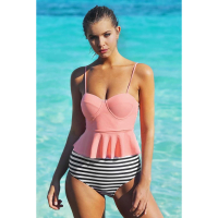 Angel Sin Women's 'High Waist Tankini' Bikini