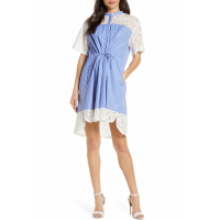 French Connection Women's 'Adena Mix Tie Waist' Dress