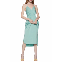 BCBGeneration Women's 'Drape Pocket Faux Wrap' Midi Dress