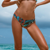 Khongboon Women's 'Hoku Palms Collide' Bikini Bottom