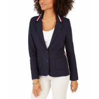 Tommy Hilfiger Women's 'Stripe-Trim' Blazer