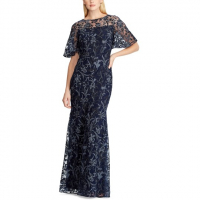 LAUREN Ralph Lauren Women's 'Floral Embroidered' Gown