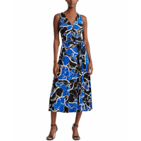LAUREN Ralph Lauren Women's 'Print Tie-Waist' Sleeveless Dress