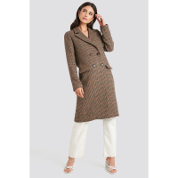 NA-KD Trend Women's 'Checked' Coat