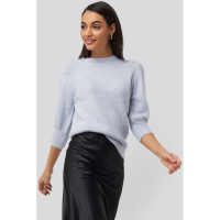 NA-KD Trend Women's 'Puff Sleeve' Short-Sleeve Sweater