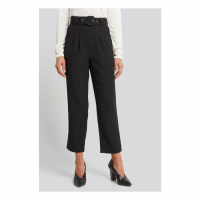 NA-KD Trend Women's 'Cropped Belted' Trousers