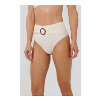 NA-KD Swimwear Women's 'Ribbed Buckle' Bikini Bottom