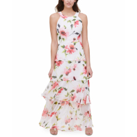 Tommy Hilfiger Women's 'Halter-Neck Tiered' Maxi Dress