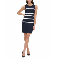 Tommy Hilfiger Women's 'Striped Sheath' Sleeveless Dress