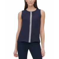 Tommy Hilfiger Women's 'Striped-Trim' Blouse