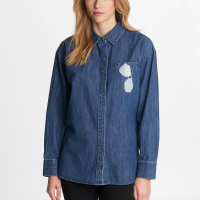 Karl Lagerfeld Women's 'Sunglass Pocket' Blouse