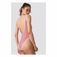 NA-KD Swimwear Women's 'Contrast Edge' Swimsuit