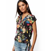New York & Company Women's 'Bird Floral' Blouse