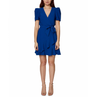 Betsey Johnson Women's 'Puff-Sleeve' Wrap dress