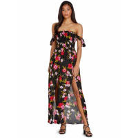 Guess Women's 'Aaliyah Smocked Off Shoulder' Maxi Dress