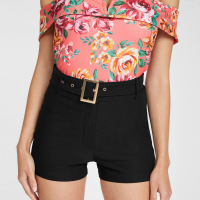 G by Guess Short 'Madras Belted Stretch' pour Femmes