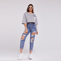 Stylebobon Women's 'Ripped' Trousers