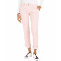 Tommy Hilfiger Women's 'Gingham-Print Cuffed' Trousers