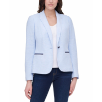 Tommy Hilfiger Women's 'Single-Button Elbow-Patch' Blazer