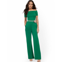 New York & Company Women's Off The Shoulder Jumpsuit