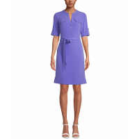 Anne Klein Women's 'Pocket-Front Belted' Shirtdress