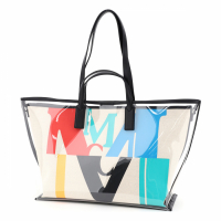 MCM Women's 'Logo Transparent Medium' Shopper