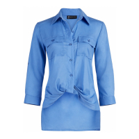 New York & Company Women's 'Button Down Twist Front' Shirt