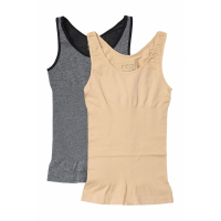 Real Underwear Women's 'Lucy Shaping' Set of 2 tank tops