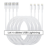 La Coque Francaise Lightning Cable for iPhone - White 4 Units