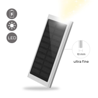 La Coque Francaise 'Waterproof' Solar Power Bank for Universal - Silver
