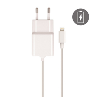 La Coque Francaise Lightning Cable & Charger for iPhone - White 2.1 Amps