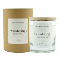The Olphactory Craft ': wandering :' Scented Candle - Goji Black Tea 40 Hours
