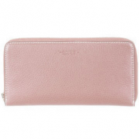 Lancel 'French Flair' Perforated Suede Travel Wallet