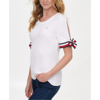 Tommy Hilfiger Women's 'Split Tie-Sleeve' Top