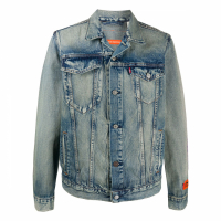 Heron Preston Men's 'Faded' Denim Jacket