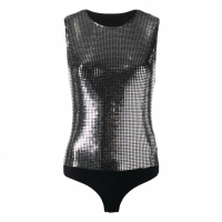 MM6 Maison Margiela Women's 'Metallic' Sleevless Top